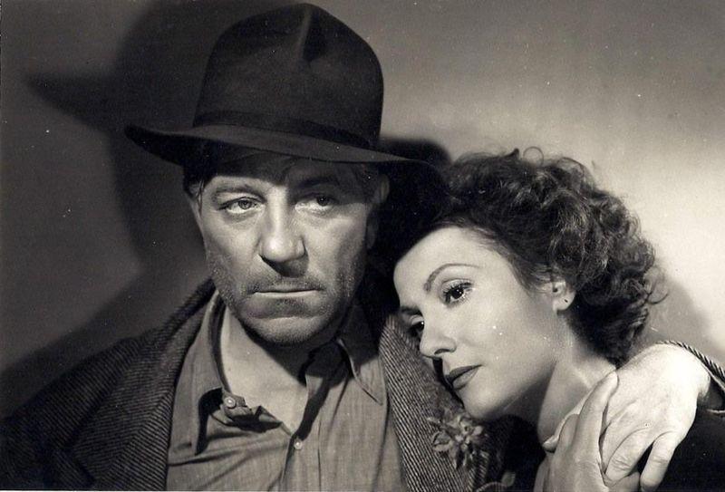 Gabin et Isa Miranda, dans %22Au-delà des grilles%22, de René Clément.